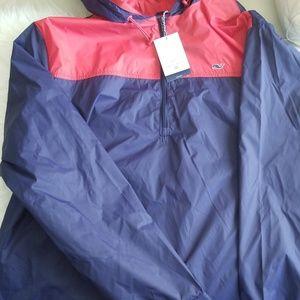 Vineyard VinesTarget Red Blue Windbreaker Jacket
